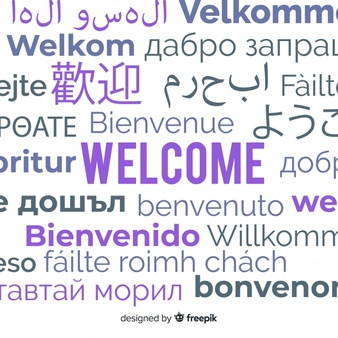 translation of the word welcome